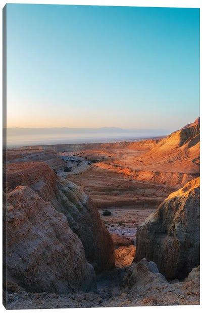 First Light Over Desert Canvas Art Print