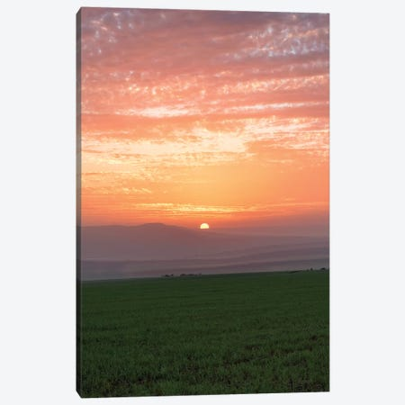 Shy Sunset Canvas Print #NPH53} by Nirs Photography Canvas Artwork