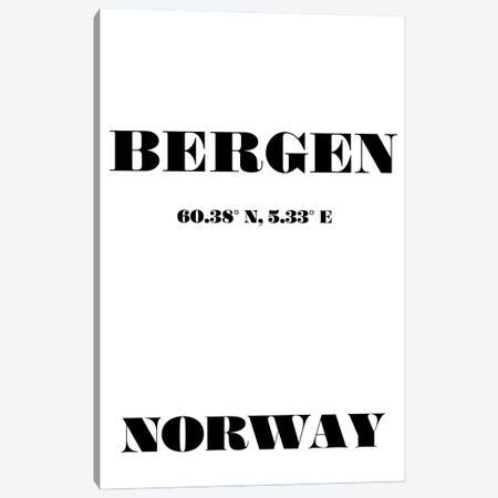 Bergen - Coordinates Canvas Print #NPS10} by Nordic Print Studio Canvas Art Print