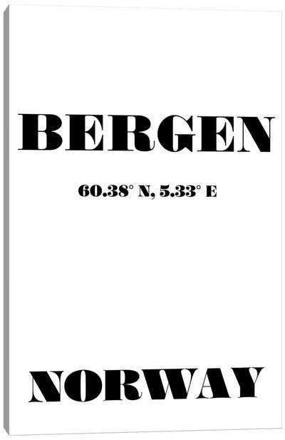 Bergen - Coordinates Canvas Art Print