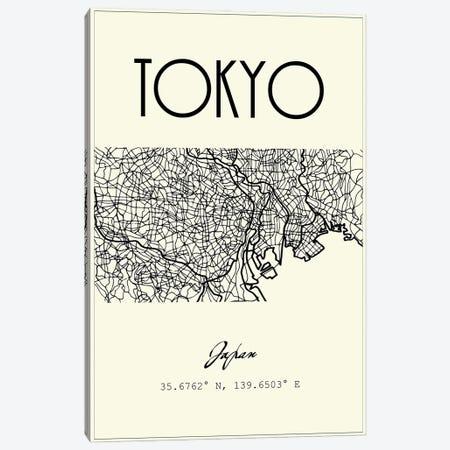 Tokyo City Map Canvas Print #NPS113} by Nordic Print Studio Canvas Artwork