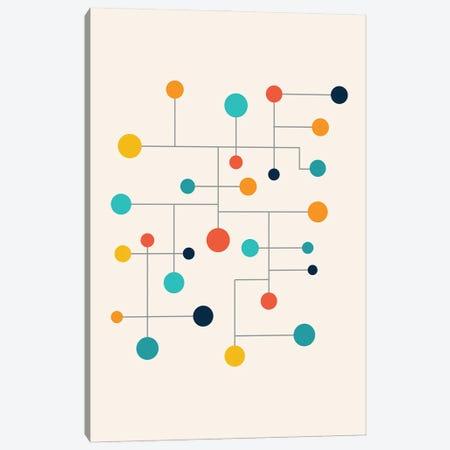 Mid Century Pop Modern Circles Canvas Print #NPS115} by Nordic Print Studio Canvas Print