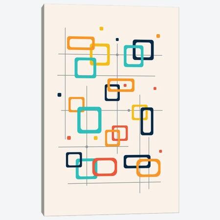 Mid Century Pop Modern Canvas Print #NPS116} by Nordic Print Studio Canvas Art Print