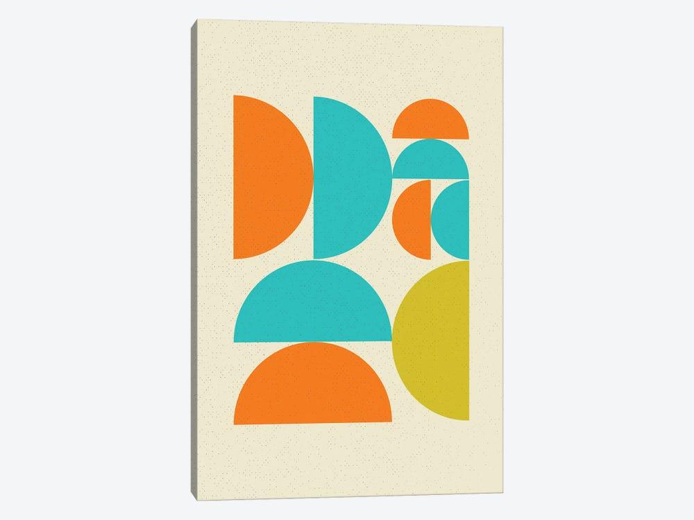 Mid Century Pop Modern Geometry Half Moons by Nordic Print Studio 1-piece Canvas Artwork