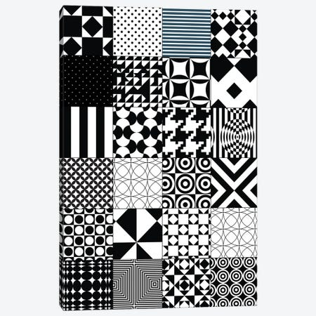 Abstract Quilt Pattern Canvas Print #NPS11} by Nordic Print Studio Canvas Art Print