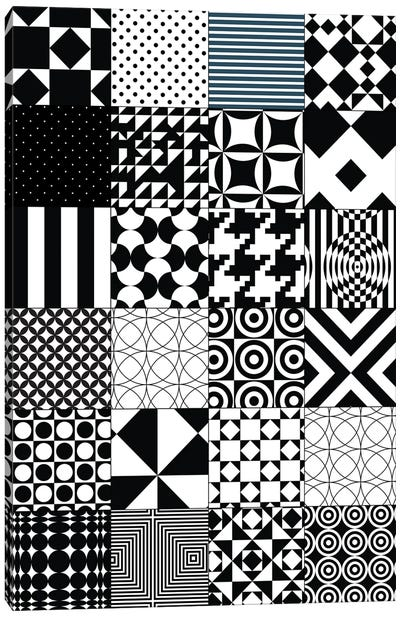 Abstract Quilt Pattern Canvas Art Print