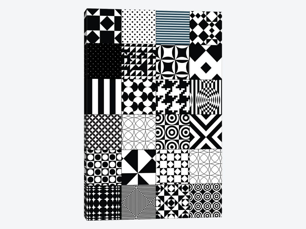 Abstract Quilt Pattern by Nordic Print Studio 1-piece Canvas Wall Art