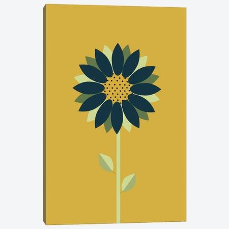 Modern Minimalist Scandinavian Folk Mustard Canvas Print #NPS122} by Nordic Print Studio Canvas Art Print
