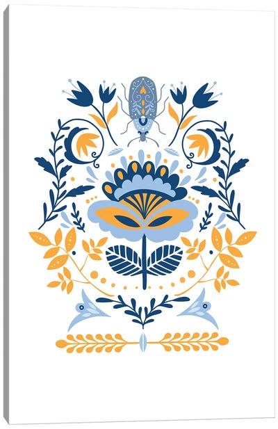 Scandinavian Folk Art Canvas Art Print