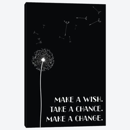 Dandelion Make A Wish Inspirational Canvas Print #NPS130} by Nordic Print Studio Canvas Art