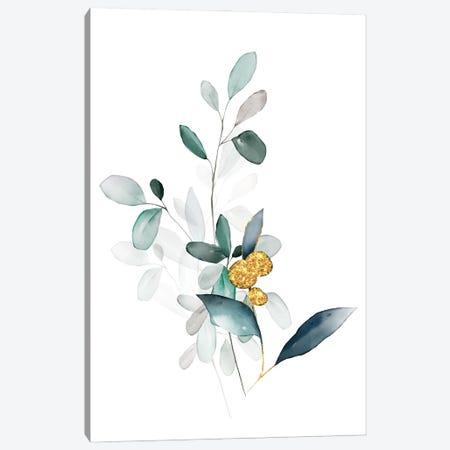 Minimalist Botanical Florals - Sage Canvas Print #NPS131} by Nordic Print Studio Canvas Artwork
