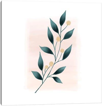 Botanical Minimalist Watercolor Canvas Art Print