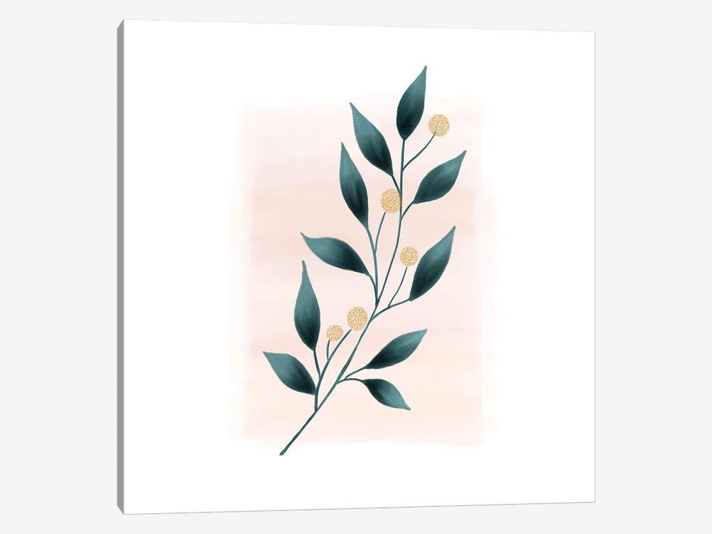 Botanical Minimalist Watercolor by Nordic Print Studio 1-piece Canvas Print
