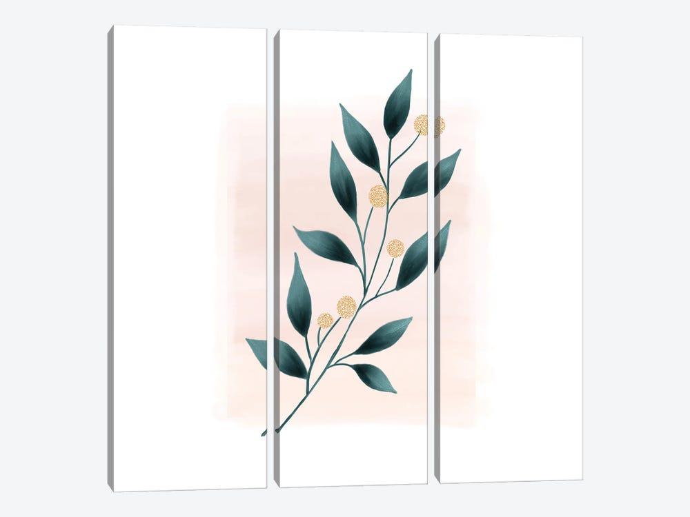 Botanical Minimalist Watercolor by Nordic Print Studio 3-piece Canvas Print