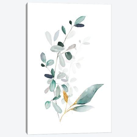 Modern Botanicals Gold & Sage Canvas Print #NPS140} by Nordic Print Studio Canvas Print