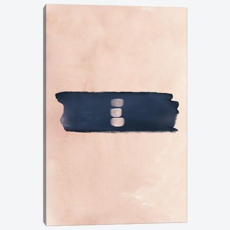 Abstract Study Blush & Navy Blue II Canvas Print #NPS14} by Nordic Print Studio Canvas Wall Art