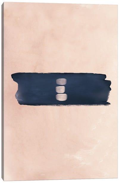 Abstract Study Blush & Navy Blue II Canvas Art Print