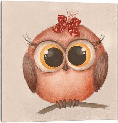 Cute Baby Owl Canvas Art Print
