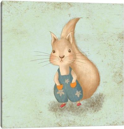 Cute Baby Squirrel Canvas Art Print