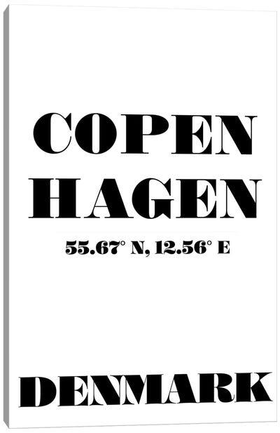 Copenhagen - Coordinates Canvas Art Print