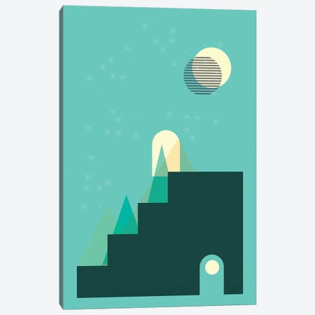 Door To The Moon Canvas Print #NPS21} by Nordic Print Studio Canvas Artwork