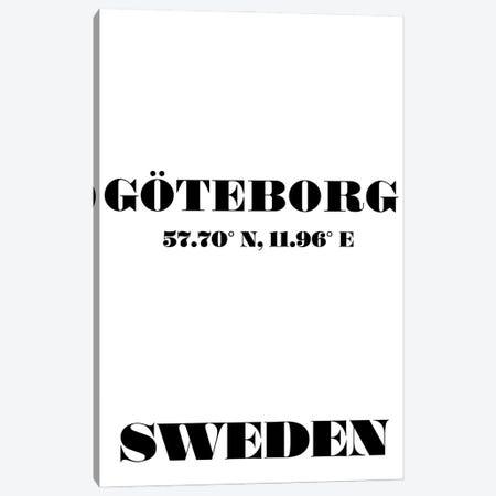 Goteborg, Sweden - Coordinates Canvas Print #NPS27} by Nordic Print Studio Canvas Print