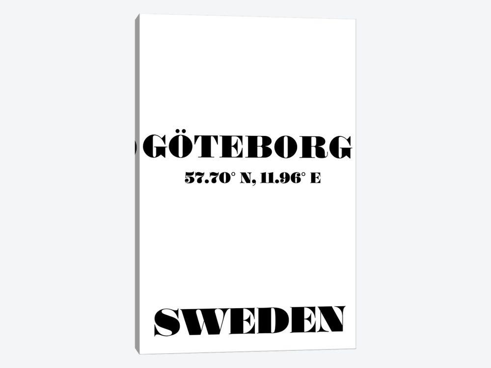 Goteborg, Sweden - Coordinates by Nordic Print Studio 1-piece Canvas Print