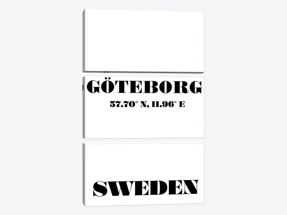 Goteborg, Sweden - Coordinates by Nordic Print Studio 3-piece Canvas Art Print