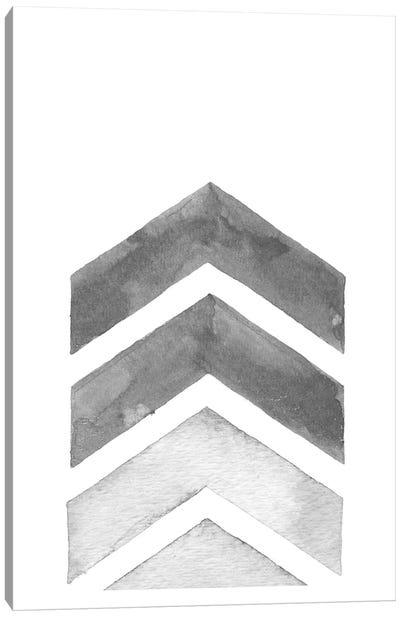 Watercolor Grey Chevron Canvas Art Print
