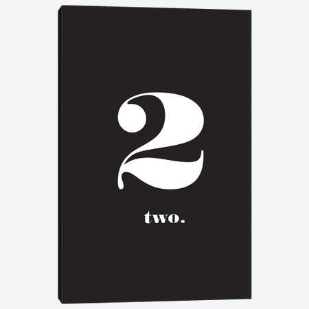 No. 2 - Typography Print Canvas Print #NPS33} by Nordic Print Studio Canvas Print