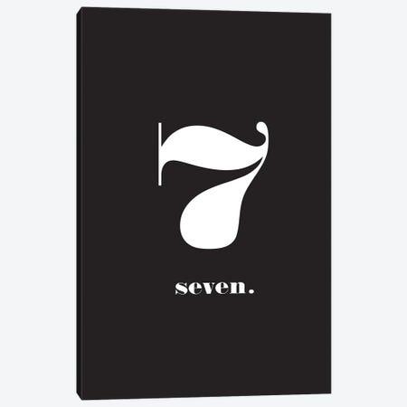 No. 7 - Typography Print Canvas Print #NPS37} by Nordic Print Studio Canvas Artwork