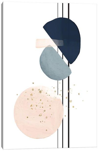 Abstract Art Blush & Navy I Canvas Art Print
