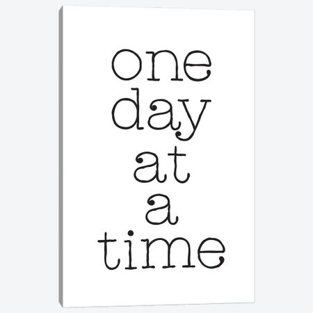 One Day At A Time Inspirational Quote Canvas Print #NPS44} by Nordic Print Studio Canvas Print