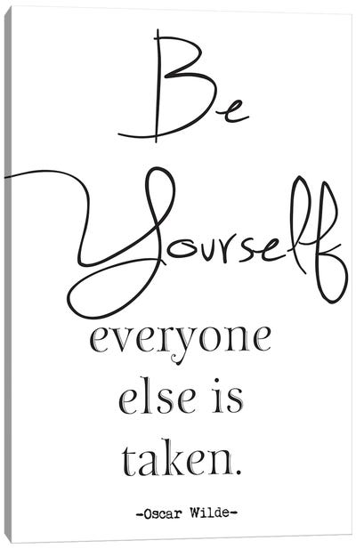 Be Yourself Inspirational Canvas Art Print