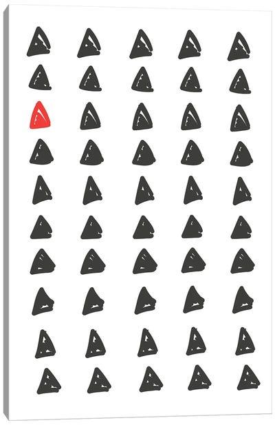 Black & Red Abstract Geometric Canvas Art Print