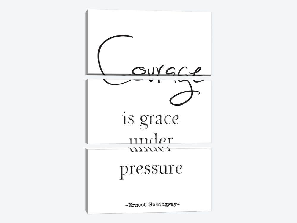 Courage - Ernest Hemingway Quote by Nordic Print Studio 3-piece Canvas Artwork
