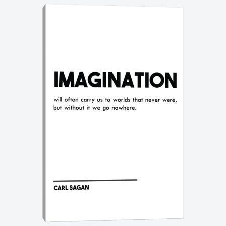 Imagination - Carl Sagan Quote Canvas Print #NPS61} by Nordic Print Studio Canvas Wall Art
