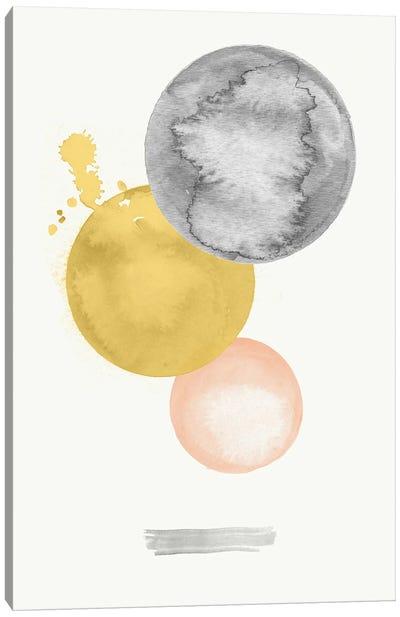 Abstract Circle Shapes Watercolor Canvas Art Print
