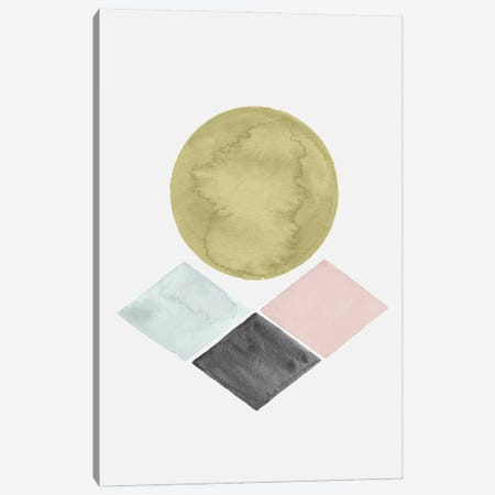 Abstract Geometric Watercolor Canvas Print #NPS68} by Nordic Print Studio Canvas Artwork