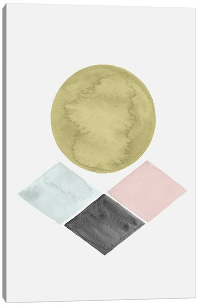 Abstract Geometric Watercolor Canvas Art Print