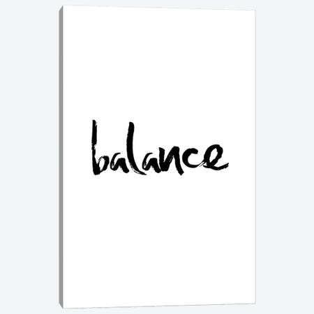 Balance Minimalistic Calligraphy Canvas Print #NPS72} by Nordic Print Studio Canvas Print