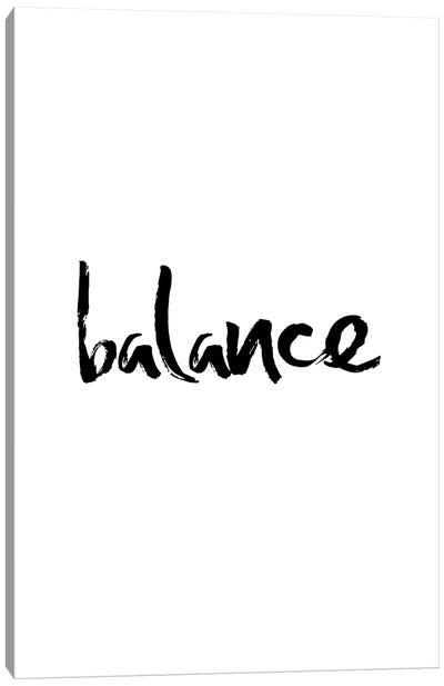 Balance Minimalistic Calligraphy Canvas Art Print