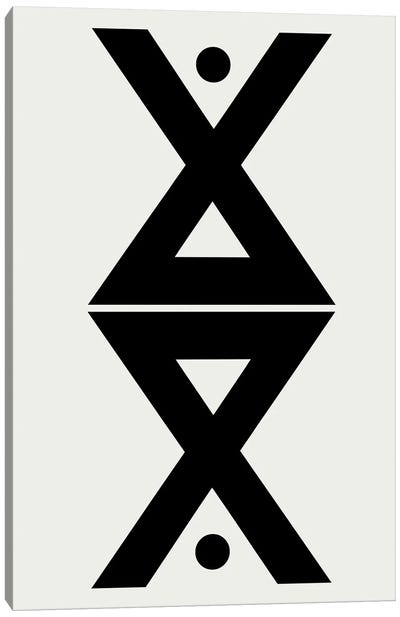 Abstract Geometric Symmetry Canvas Art Print