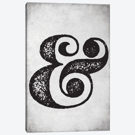 Ampersand Sign Old Style Canvas Print #NPS7} by Nordic Print Studio Canvas Art Print
