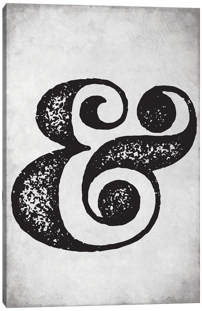 Ampersand Sign Old Style Canvas Art Print