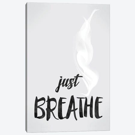 Just Breathe - Inspirational Canvas Print #NPS82} by Nordic Print Studio Canvas Artwork