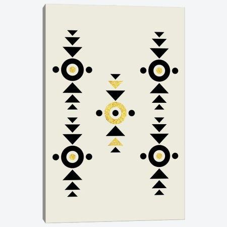 Abstract Tribal Gold And Black I Canvas Print #NPS83} by Nordic Print Studio Canvas Wall Art