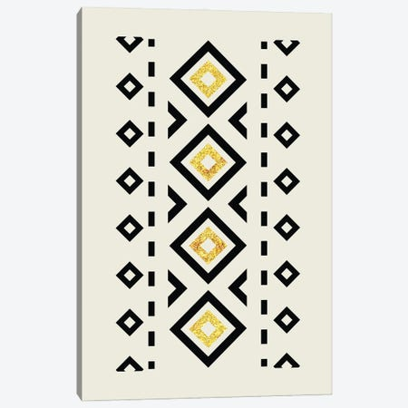 Abstract Tribal Gold And Black II Canvas Print #NPS84} by Nordic Print Studio Canvas Art Print