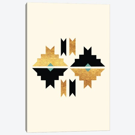 Abstract Tribal Gold And Black III Canvas Print #NPS85} by Nordic Print Studio Art Print