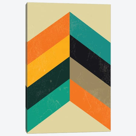 Mid Century Chevron Print Canvas Print #NPS87} by Nordic Print Studio Canvas Print